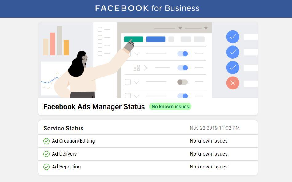 Facebook Ads Manager Status